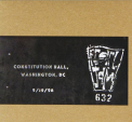 Pearl Jam - OFFICIAL BOOTLEG: CONSTITUTION HALL DC 9/19/98